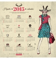 Calendar template hipster design year of the goat vector
