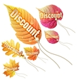 Set with autumn sale tags eps 10 vector