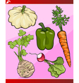 Vegetables set cartoon vector