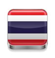 Metal icon of thailand vector