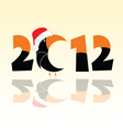 Parrot in 2012 year vector