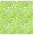 Eco friendly concept-seamless hand drawn pattern vector