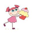 Cupcake girl vector