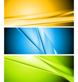 Colourful abstract banners vector