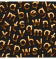 Seamless pattern with golden alphabet vector