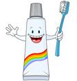 Cartoon toothpaste character vector