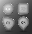 Ok glass buttons vector