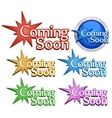Coming soon signs vector