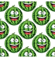 Seamless pattern of a laughing watermelon vector