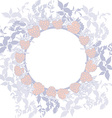 Spring background wreath with leaves round banner vector