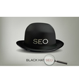 Seo black hat vector