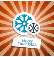 Retro abstract merry christmas background vector