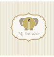 Romantic baby announcement card vector