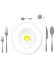 Egg plate vector