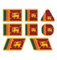 Buttons with flag of sri lanka vector