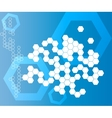 Abstract hexagonal shapes background blue vector