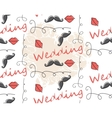 Seamless pattern background for wedding vector