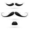 A set of three moustache vector