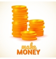 Columns of coins make money vector