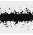 Grunge ink splattered background element with a sp vector