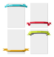 Paper sheets with ribbons vector