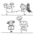 Chinese cartoon character happy people vector