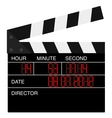 Open digital movie clapboard vector