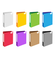 Colorful set of office folder icons vector