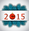 New year background with fir branches vector
