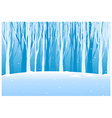 Tree woods in winter vector