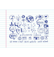 Hand doodle business icon set idea design vector