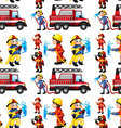 Seamless firefighters vector