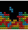 Tetris tiles background vector