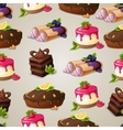 Sweets dessert seamless pattern vector