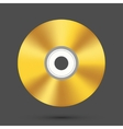 Modern disc on gray background vector