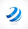 Globe sphere curl communication logo vector