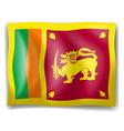 Flag of sri lanka vector