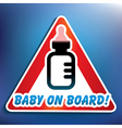 Baby on board sticker vector