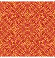 Seamless orange floral wallpaper vector