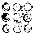 Abstract round prints strokes and splashes of ink vector