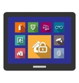 Flat safety and security icons vector