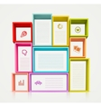 Colorful shelves vector