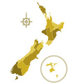 New zealand silhouette map vector