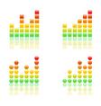 Bar grahs icons vector