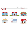Public building set 2 vector