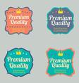 Set of vintage retro badge vector