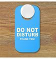 Do not disturb blue sign vector