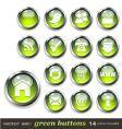 Green aqua style web buttons vector