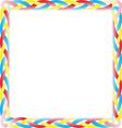 Color box braid vector
