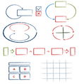 Set of hand drawn graphic signs vector